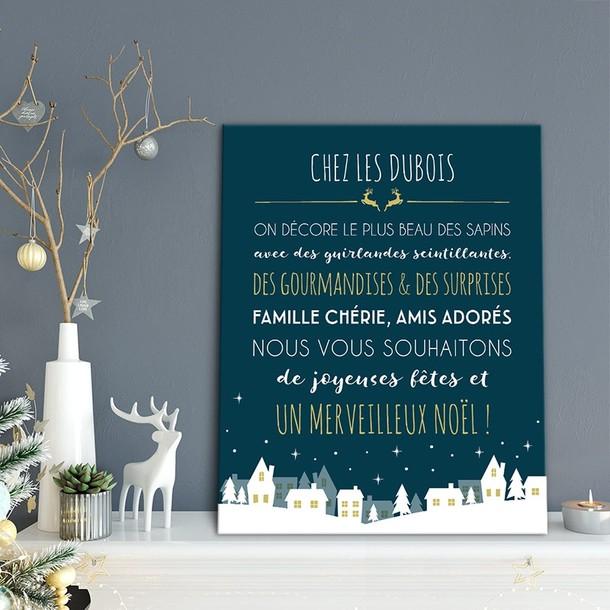 Tableau de Noël, personnalisable, Mes Mots Déco