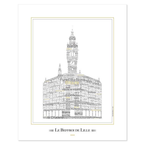 """Affiche """"Le Beffroi"""" de Lille"""