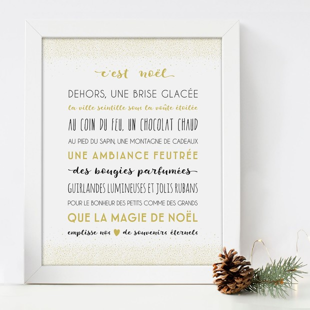Affiche Noël décorative