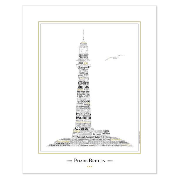 "Affiche Bretagne ""Le Phare Breton"""