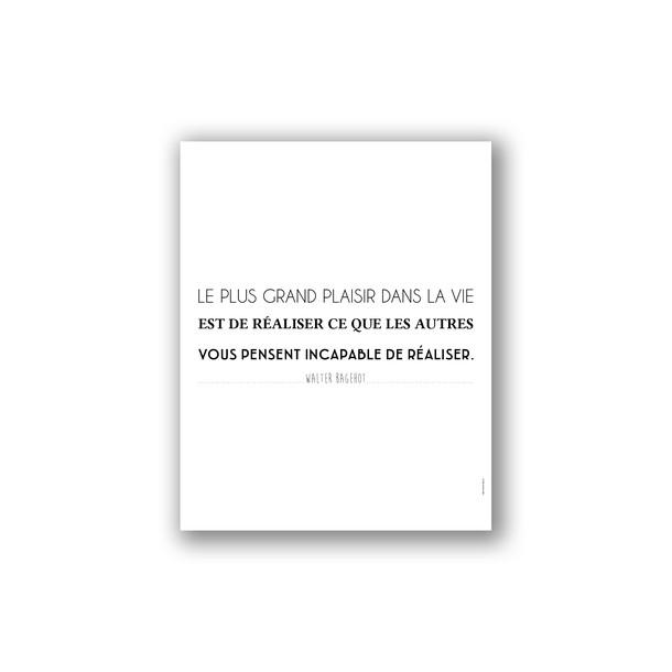 Affiche citation de Walter Bagehot