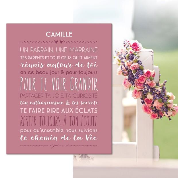"""""""Jolie Cérémonie"""", fond céladon, tableau décoratif, Mes Mots Déco"""