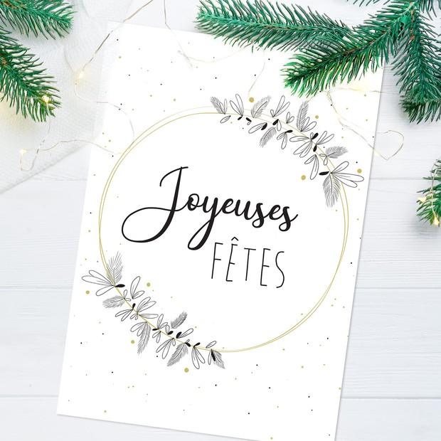 """Carte de voeux """"Joyeuses fêtes """""""