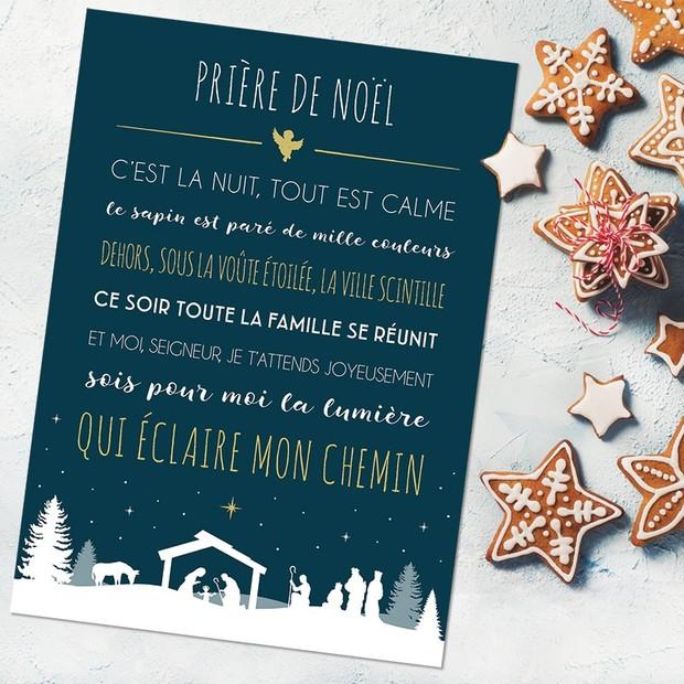 Carte prière de Noël, Mes Mots Déco
