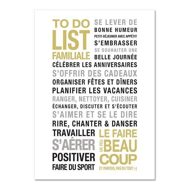 To Do List, carte décorative fond blanc, Mes Mots Déco