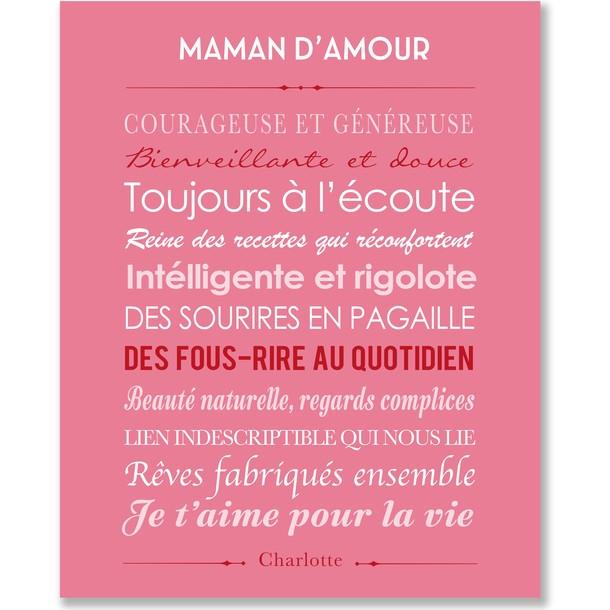 Tableau Maman d'amour
