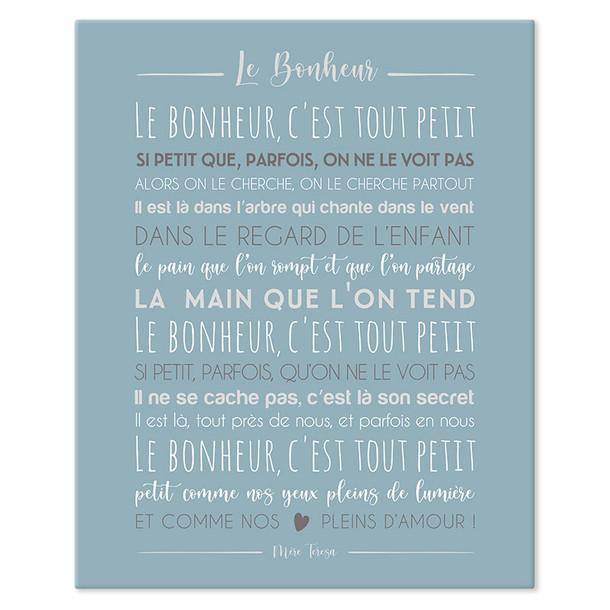 """""""Le Bonheur"""" - 4 coloris"""