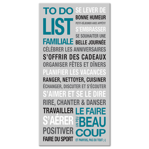 to do list de la famille