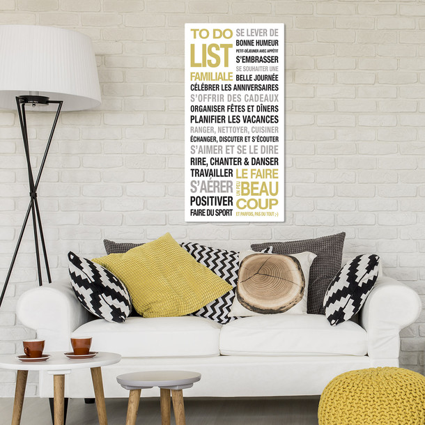stickers  affiches et tableaux d u00e9co to do list de la famille