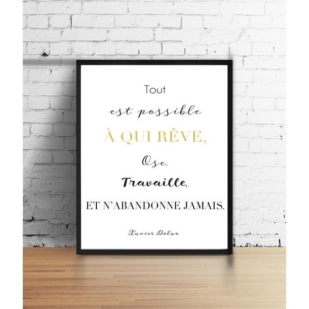 Affiche citation de Xavier Dolan