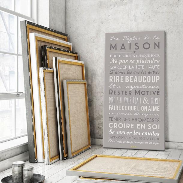 Les Règles de la Maison - fond blanc, sticker mural, Mes Mots Déco