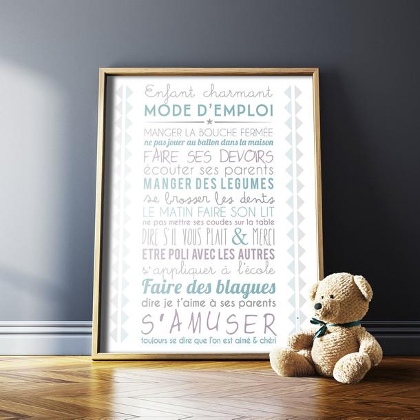 Souvent Affiches et Tableaux Déco Enfant Charmant selon Mes Mots Déco DA73