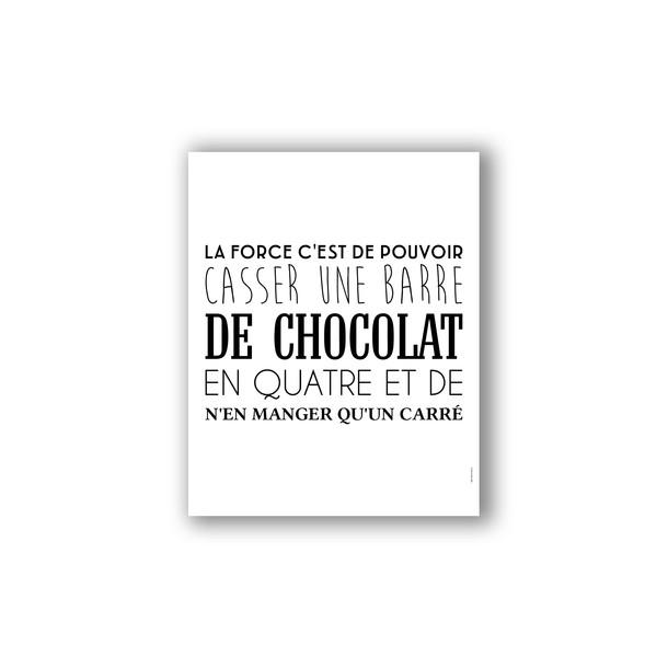 Affiche humour chocolat