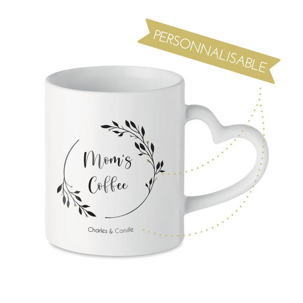 Mug couronne poignée coeur
