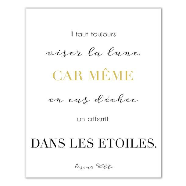 Affiche citation d'Oscar Wilde