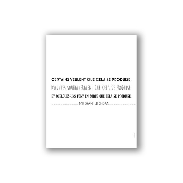 Affiche citation de Michael Jordan