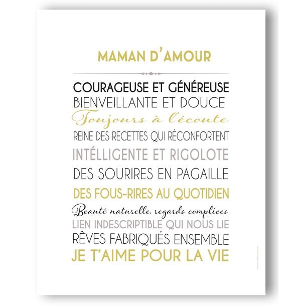 Affiche Maman d'amour