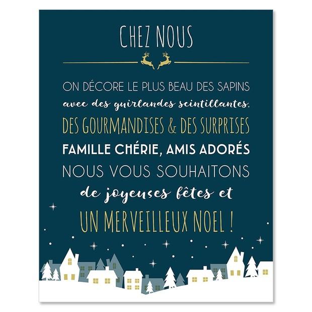 """Affiche  """"c'est Noël"""", Mes Mots Déco"""